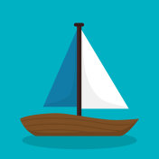 boat travel isolated icon