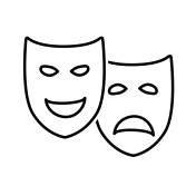 Theatrical Drama and Comedy Masks
