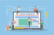 Website building illustration.