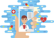 Medical and healthcare, mobile app, online medical consultation