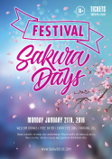 Sakura Days Festival Poster