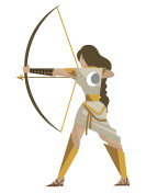 artemis diana goddess greek roman of the hunters