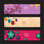 Banner Chinese New Year. Vector illustration.