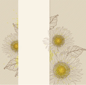 Vertical banner with sunflowers