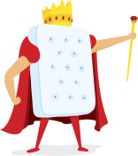 King of brains with crown and scepter