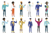 Vector set of professions characters