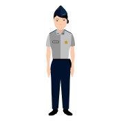 Isolated police avatar