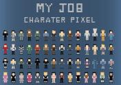 Set-of-Characters-Pixel