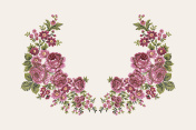 Floral embroidery collar.