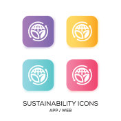 Set of Sustainability App Icon