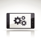 gears icon on mobile phone