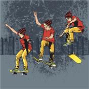 Skateboarding drawings