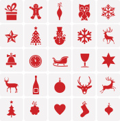 christmas and new year's symbols & icons