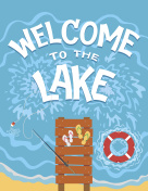 Welcome to the lake typography illustration