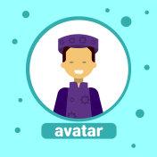 Asian Woman Avatar Icon Malaysia Female In Traditional Costume Profile Portrait