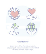 Help, Care, Crowdfunding, Charity or Donation Symbols