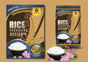 Rice Thailand food Products and Fabric Background Thai Arts,  banner and poster template design rice food.