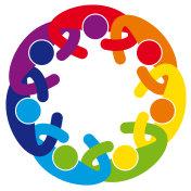 Abstract Cooperation People Mandala