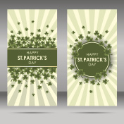 St Patrick's day card design, vector banner