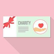 donation coupon Flat Design
