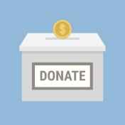 Vector of Donation box