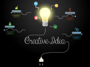 Creative light bulb idea abstract info graphic
