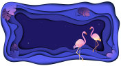 Summer tropical flamingo banner