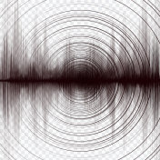 Super Earthquake Wave with Circle Vibration,Sound and Radio style,audio and diagram concept,design for education and science,Vector Illustration.