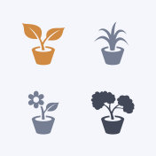 House Plants - Carbon Icons