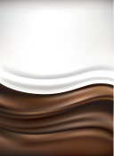 milk on chocolate background