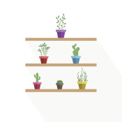 Vector potted plants