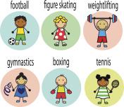 Set Cartoon athletes