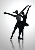 Couple Dancing Ballet