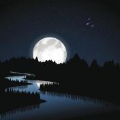 River at moonlight