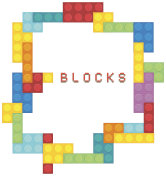 Border template with colorful blocks