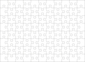 Jigsaw puzzle blank template of 88 pieces
