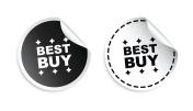 Best buy sticker. Black and white vector illustration.