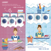 Laundry service banner concept