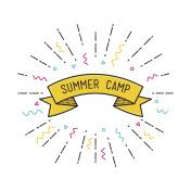 Vector summer camp poster in flat design