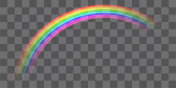 real colorful transparent curve rainbow vector eps