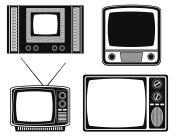 tv old retro vintage icon stock vector illustration
