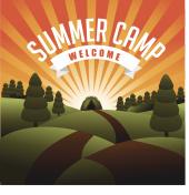 Summer camp burst EPS 10 vector