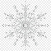 Big translucent Christmas snowflake