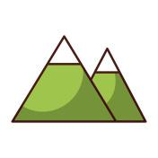 shadow mountain cartoon vector