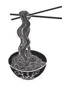Hand drawn doodle Noodle at bowl and stick. - Illustration Noodles, Pasta, Asian Wheat Noodles, Breakfast, Dinner - Illustration Asian Wheat Noodles, Breakfast, Dinner, Eating, Food - Illustration Asian Wheat Noodles, Breakfast, Dinner, Eating, Food