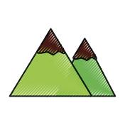 scribble mountain cartoon vector