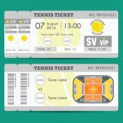 Tennis Ticket Modern Design