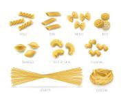 Set macaroni, realistic style