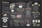 Chalk menu list blackboard design for cafe or restaurant, breakfast and lunch