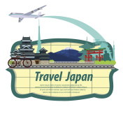 illustration. travel japan